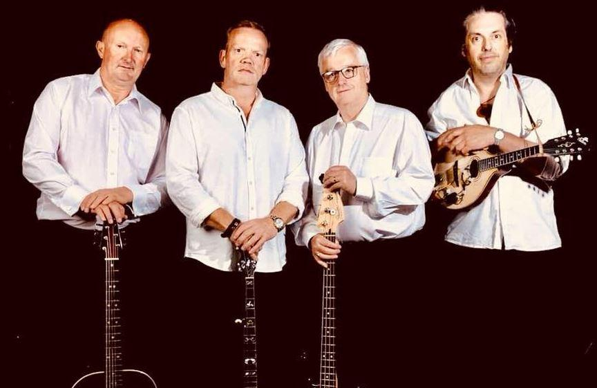 Laois Irish traditional ballad singer Kevin Morrin and band