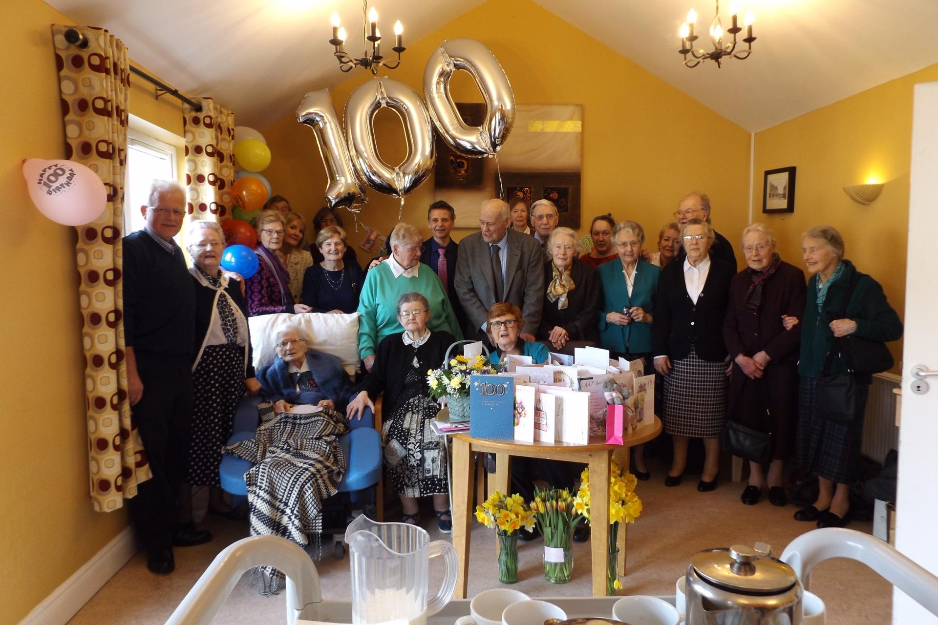 Niece Travelled From Australia For Laois Ladys 100th Birthday Celebrations