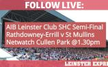 FOLLOW LIVE: All the action from Rathdowney-Errill's Leinster Club SHC Semi-Final