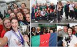GALLERY: Warm welcome home for All-Ireland basketball champions Scoil Chríost Rí