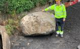 Ice age boulder dug up during Laois roadworks