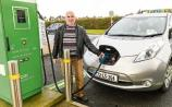 Fintan Gorman's Taxi is a fully electric Nissan Leaf