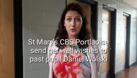 WATCH: Portlaoise school sends lovely messages to seriously injured past pupil