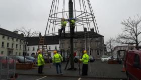 WATCH: Mountmellick Christmas tree is going up