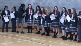 Junior Cert Results time for happy students in Portlaoise College
