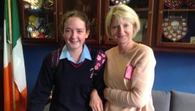 Junior Cert Results: Happy students at Mountrath Community School opening their exam results last week