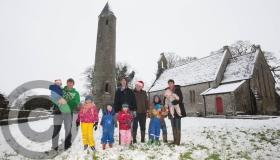 #SNOW - Snowmen, igloo building, traffic, slides in Laois - pictures