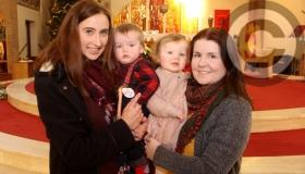 Bishop in Portlaoise Parish Catholic church for blessing of the babies