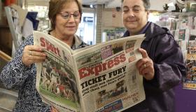 Laois people enjoy to the new look Leinster Express newspaper #inpictures