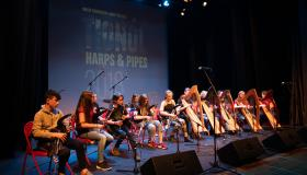 Laois Music Generation Tionól festival of harps and pipes in Portlaoise