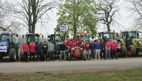 GALLERY: Laois Carlow students travel to school by tractor