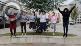 Leaving Cert results day in pictures at Portlaoise at Scoil Chríost Rí and St Mary's CBS
