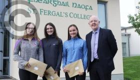 Leaving Cert Day at St Fergal's College in Rathdowney  in pictures