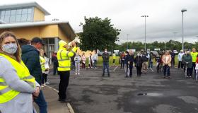Laois community takes to streets to protest closure of public leisure centre