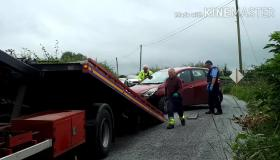 WATCH: Crash recovery scene after car overturned on Laois road