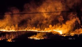 Shocking images of fire sweeping over Slieve Bloom mountains