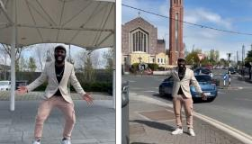 VIDEO: Popular Irish comedian Black Paddy tours Portlaoise streets