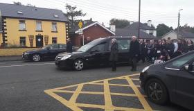 Portlaoise councillors form guard of honor at the funeral of the late Joe Hesh McCormack