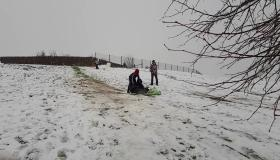 Snow in Portlaoise slide laois