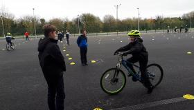 Safe Cycling Lessons underway at this Portlaoise primary school