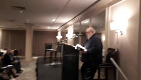 Watch One of Pat Critchley's poems recited at the launch of his new book