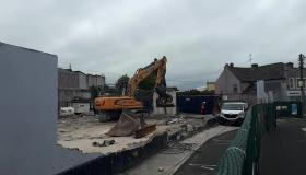 Watch - Back to work preparing the ground for Portlaoise's new library