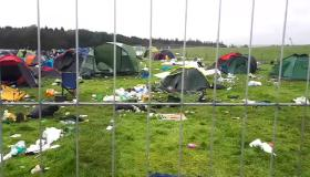 WATCH: Littered campsite versus clean campervan site at Electric Picnic