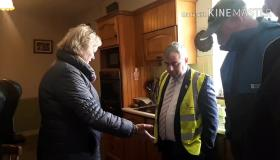 FLOODING: Flood Relief Minister saw the damage done by floods in Mountmellick #watch