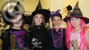 Laois pupils show off their whacky Halloween costumes in Timahoe