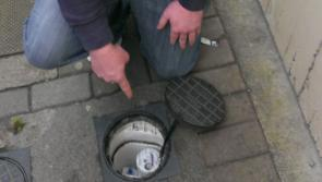 16 water meters on a Portlaoise street which Irish Water claims is 'unmetered'