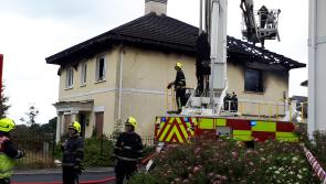A huge fire has broken out at a vacant house in Portlaoise estate