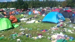 Campers leaving today are urged not to repeat last year's 'graveyard' of broken tents, chairs and gazebos