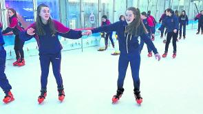 Mountrath Community School students on ice