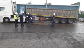Truck driver to weigh up options after being stopped in Longford with no tax, insurance and excessively heavy load