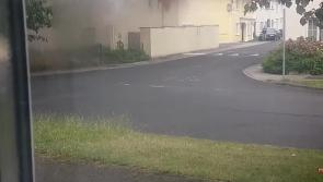 WATCH: Fire engulfs home at Esker Hills in Portlaoise -  NEW FOOTAGE