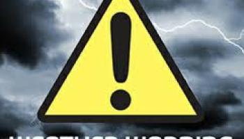 Status yellow wind warning issued for eight counties