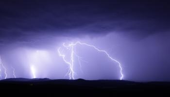 Status yellow thunderstorm warning for Ireland