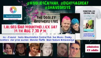 Laois community group ready to shave or dye for toddler Cathail