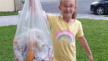 Little Laois environmentalist tackling litter in her housing estate