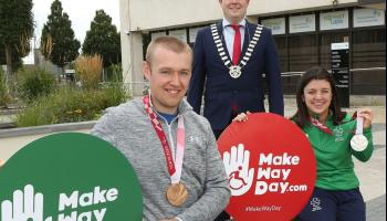 Civic receptions for Laois paralympians Nicole Turner and Gary