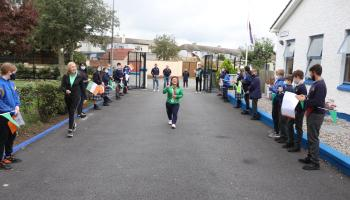 In Pictures: GAA champs and Paralympic star tour sliverware in Portarlington school