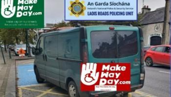 Laois Gardaí showing zero tolerence to motorists blocking wheelchair zones