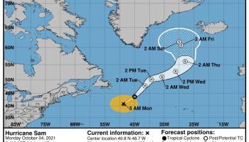 Ex-Hurricane Sam set to bring abnormally mild weather to Ireland says Met Éireann