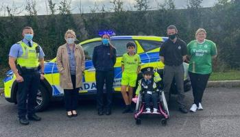 Little Blue Hero and Honorary Garda Amira soon on the beat in new uniform