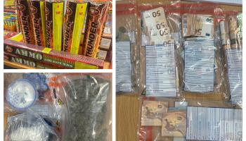 Laois gardaí seize wads of cash, boxes of fireworks and big stash of drugs
