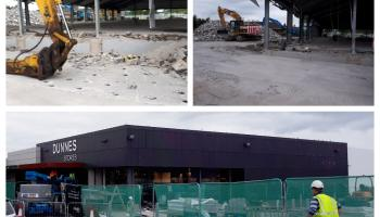 In Pictures: Supermarket expansions at very different stages in Portlaoise