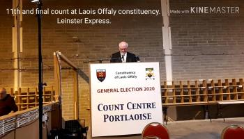WATCH: 11th count in Laois Offaly constituency elects final two TDs