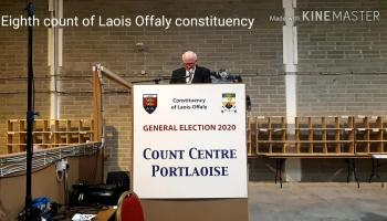 WATCH: Eighth count in Laois Offaly constituency sees Barry Cowen elected