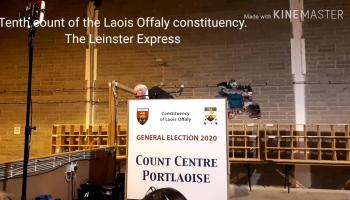 WATCH:  Fine Gael Charlie Flanagan holds his seat in Laois Offaly constituency
