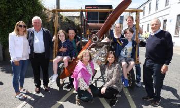 WATCH: The Portlaoise Flyer lands in Laois